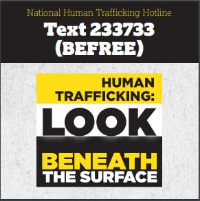 text of human trafficking hotline