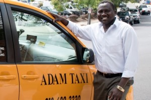 man with taxi