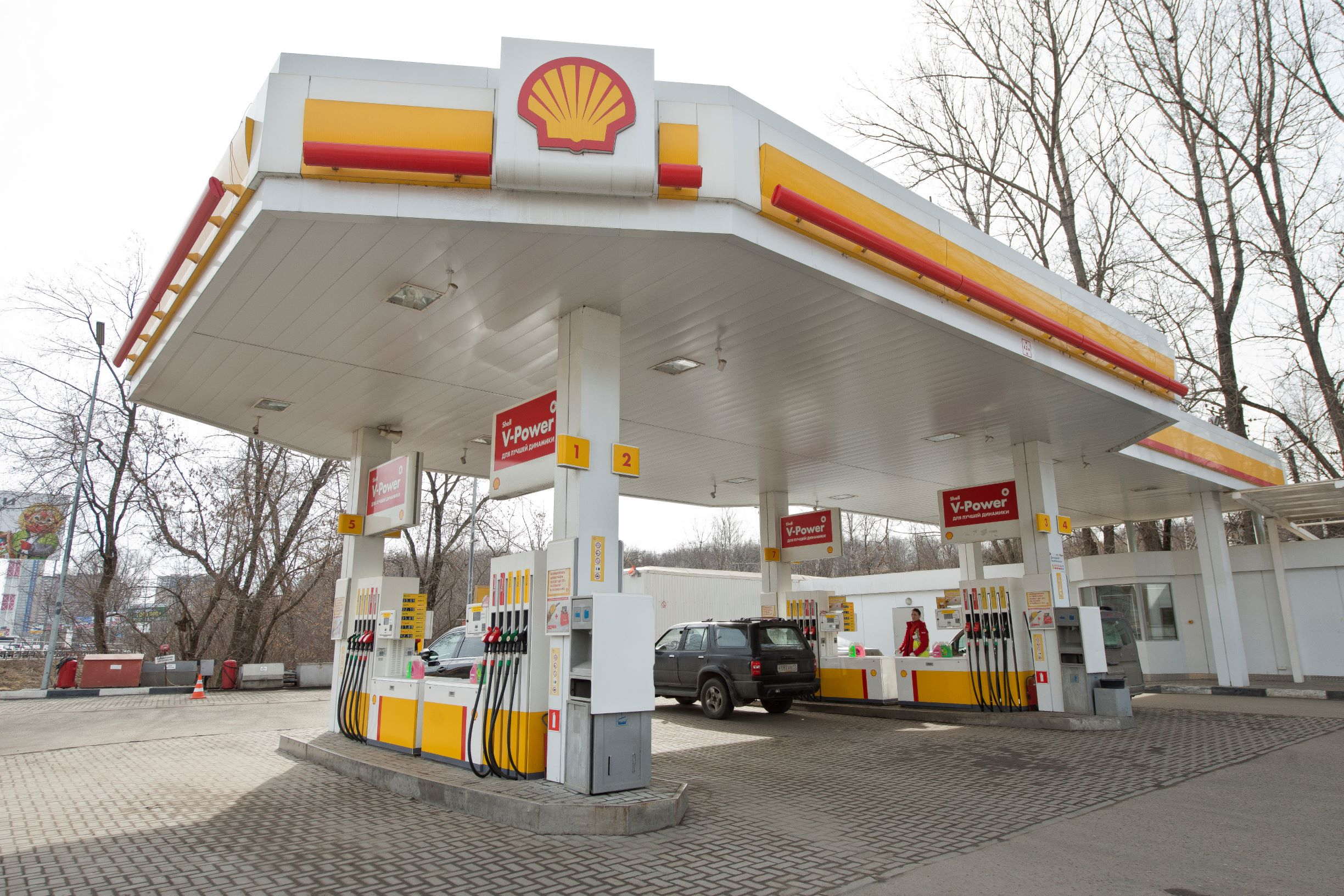 exterior of Shell gas station